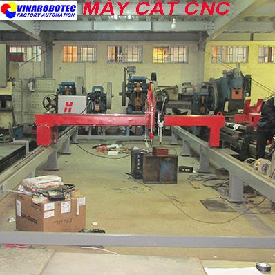 MÁY CẮT CNC 01 MỎ CẮT PLASMA & 01 MỎ CẮT OXY-GAS