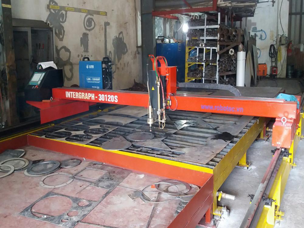 LẮP ĐẶT MÁY CẮT CNC PLASMA/OXY-GAS 3m X 12m
