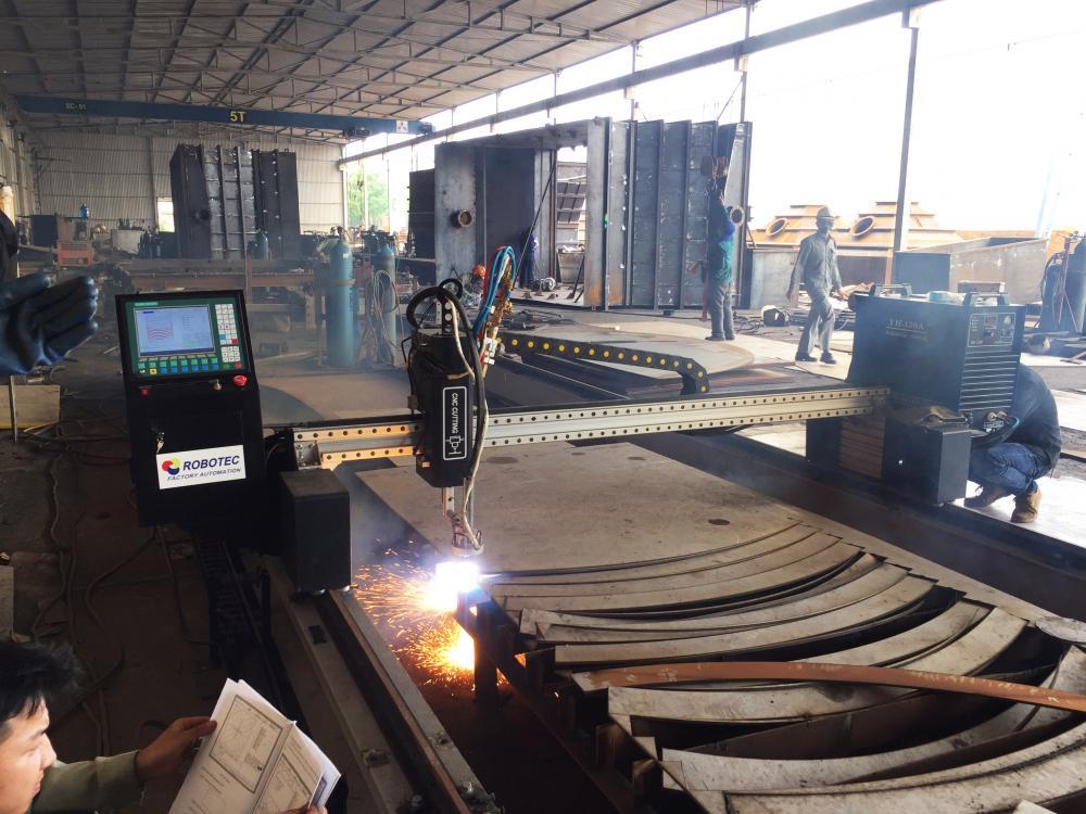 LẮP ĐẶT MÁY CẮT CNC PLASMA 2M X 12M CHUYÊN CẮT INOX